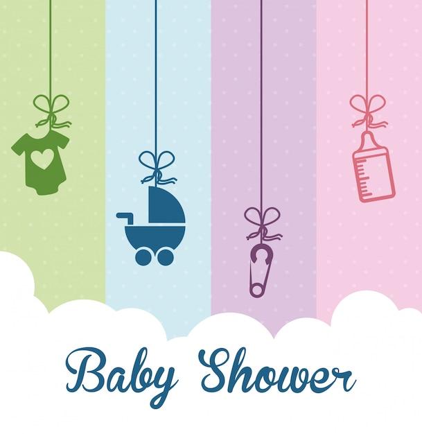 Babyshower Gratis Vector