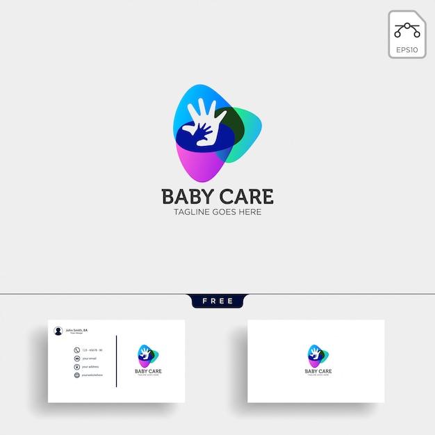 Babyverzorging logo sjabloon Premium Vector