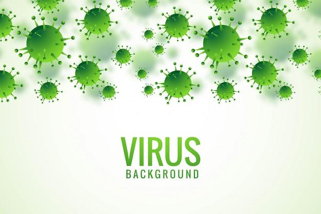 Bacteriën of virusinfectie griepachtergrond Gratis Vector