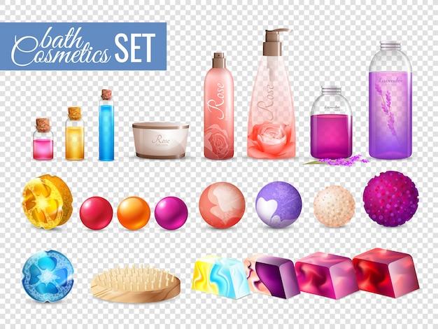 Bad cosmetica verpakking collectie Gratis Vector