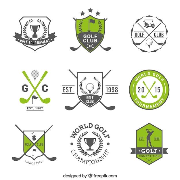 Badges golf Gratis Vector