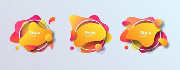 Badges ingesteld voor app Gratis Vector