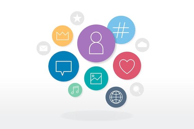 Badges voor sociale media Gratis Vector