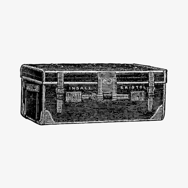 Bagage in vintage stijl Gratis Vector