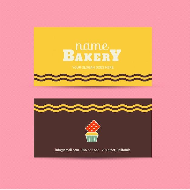 Bakkerij kleurrijk visitekaartje Premium Vector