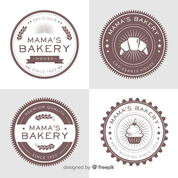 Bakkerij logo collectie Gratis Vector