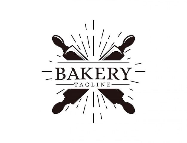 Bakkerij logo sjabloon Premium Vector