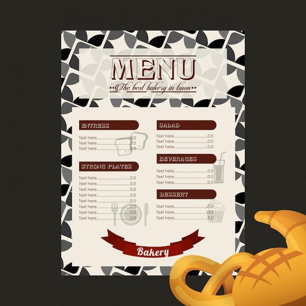 Bakkerij menu Premium Vector