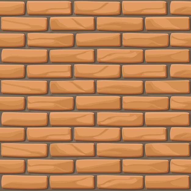 Bakstenen muur textuur naadloze stenen Premium Vector
