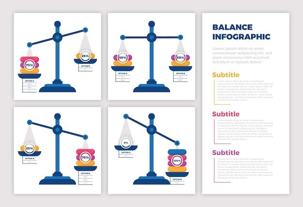 Balanceer infographics Gratis Vector