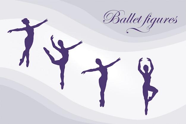 Balletfiguren Premium Vector