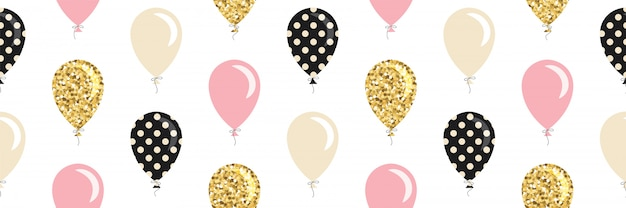 Ballonnen naadloze patroon. Premium Vector