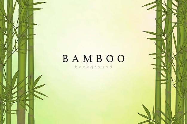 Bamboe boom achtergrond Gratis Vector