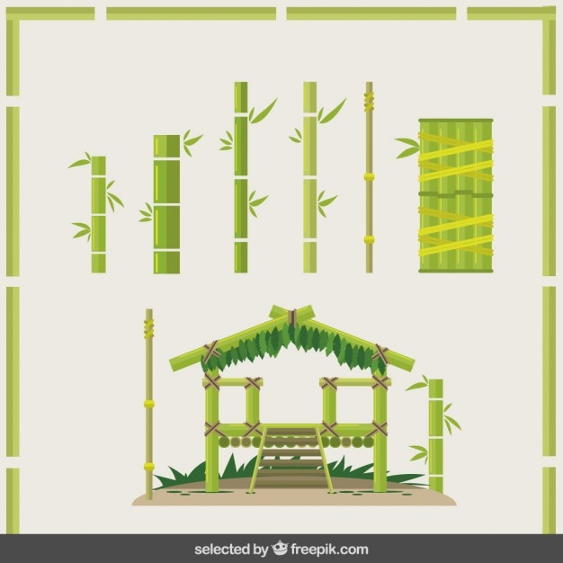 Bamboe bouw Gratis Vector