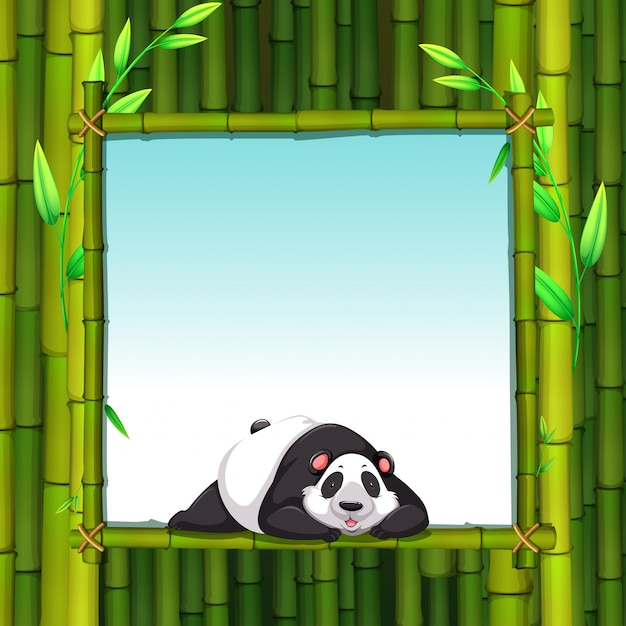 Bamboe frame Gratis Vector