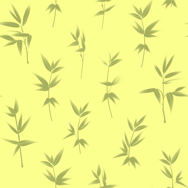 Bamboe naadloze patroon. Gratis Vector
