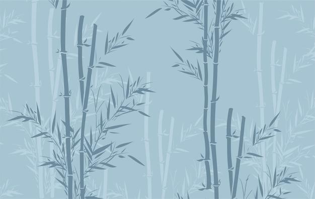 Bamboe patroon Premium Vector