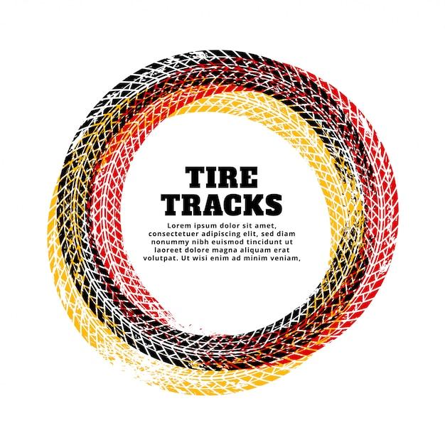 Band track cirkel frame achtergrond Gratis Vector