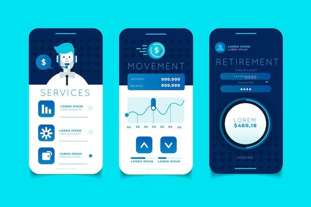 Bank-app-interface Gratis Vector
