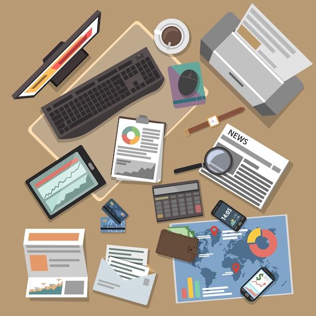 Banking operations concept Gratis Vector
