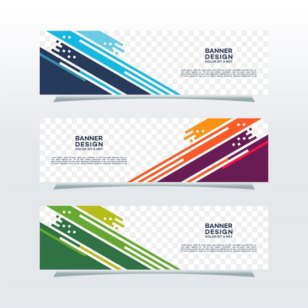 Banner achtergrond Premium Vector