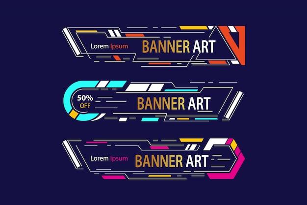 Banner kunst frame Gratis Vector