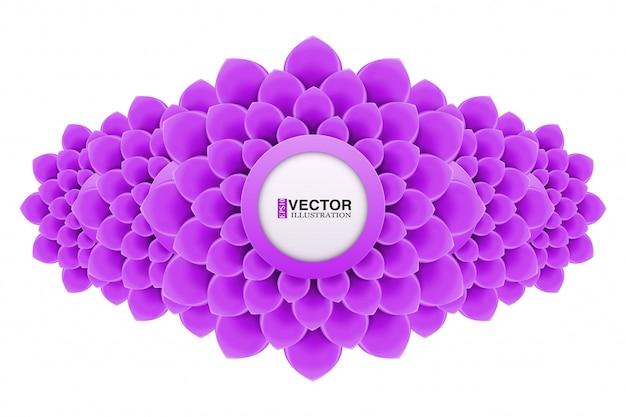 Banner met bloemen in plat design Premium Vector