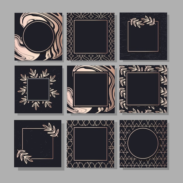 Banner met een design gouden mode kunst Premium Vector