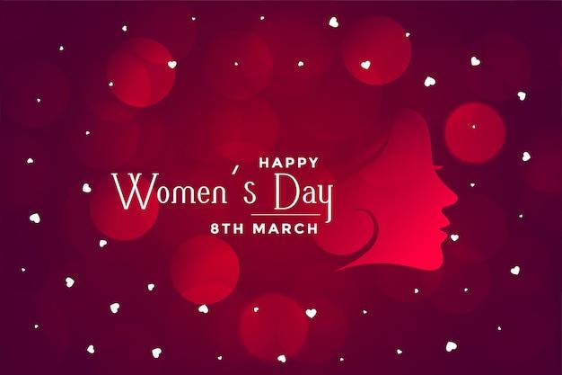 Banner van de dag de mooie bokeh van gelukkige vrouwen Gratis Vector
