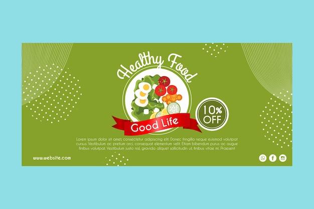 Banner voor gezond voedsel Gratis Vector