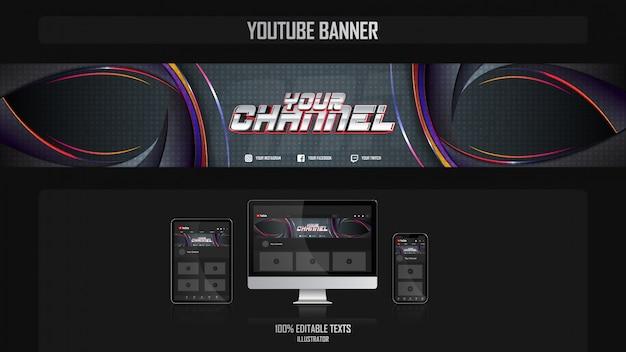 Banner voor sociaal mediakanaal met caribisch concept Premium Vector