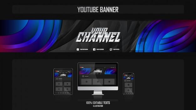 Banner voor social media-kanaal met bedrijfsconcept Premium Vector