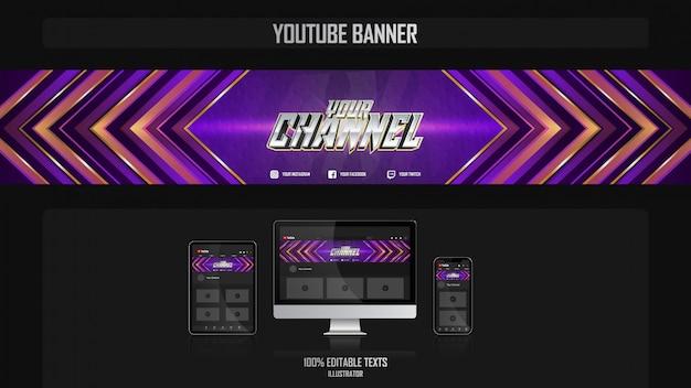 Banner voor social media kanaal met crossfit concept Premium Vector
