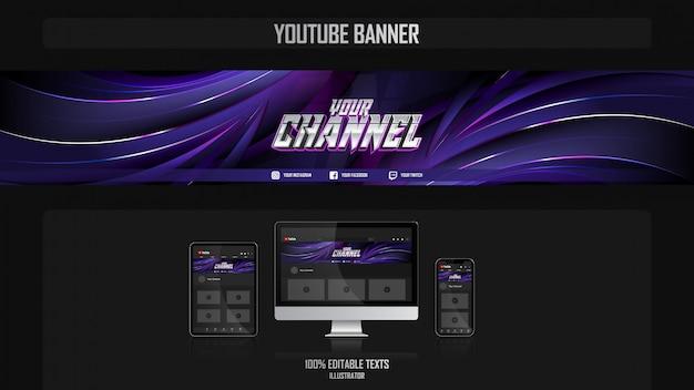 Banner voor social media-kanaal met luxe concept Premium Vector