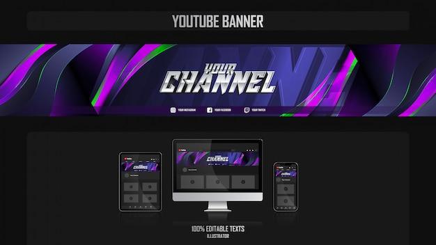 Banner voor social media-kanaal met muziekconcept Premium Vector