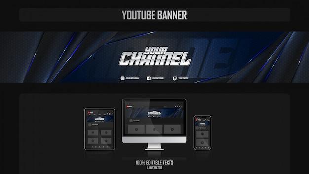 Banner voor social media-kanaal met night-concept Premium Vector