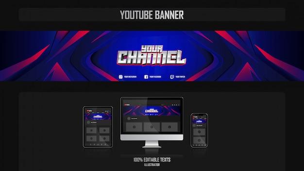 Banner voor social media-kanaal met oceanic-concept Premium Vector