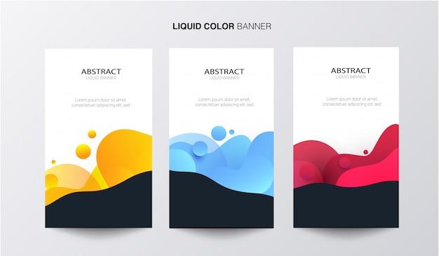 Banner voor vloeibare kleuren Gratis Vector