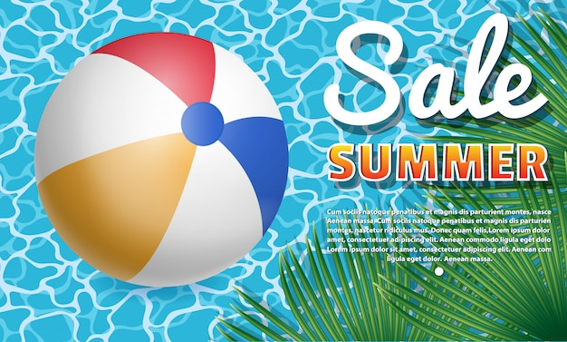 Banner zomer verkoop. Premium Vector
