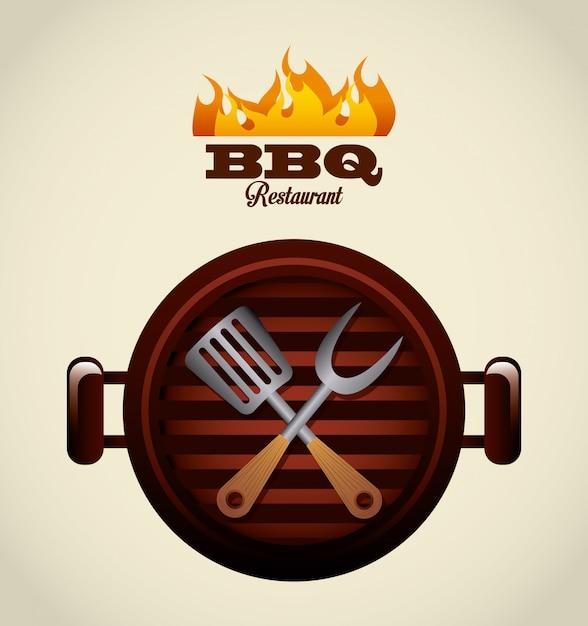 Barbecue eten Premium Vector