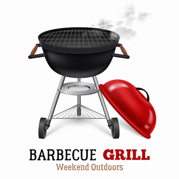 Barbecue grill illustratie Gratis Vector