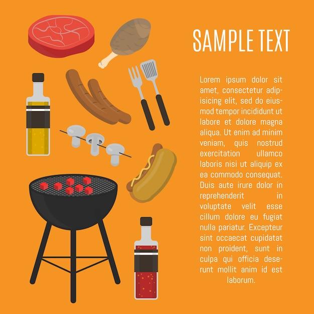 Barbecue kaart Premium Vector
