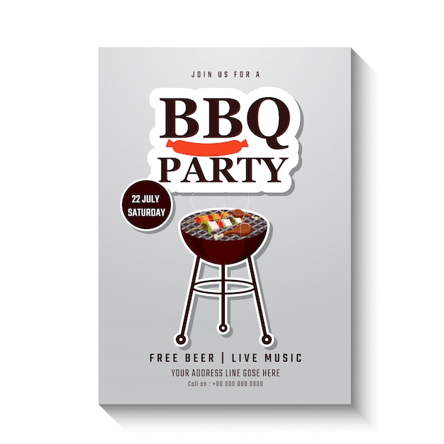 Barbecue-poster Premium Vector
