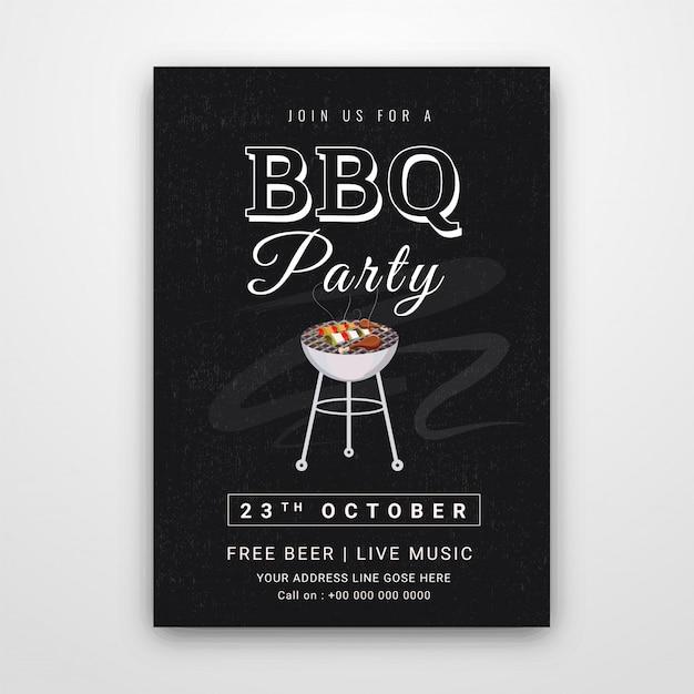 Barbecue-poster Premium Vector