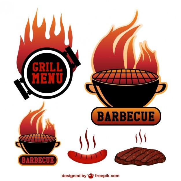 Barbecue vectorsymbolen Gratis Vector
