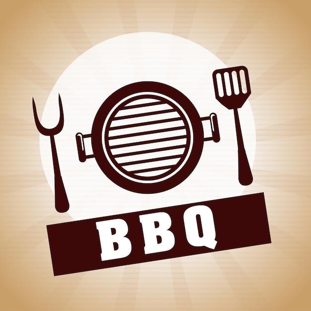 Barbecuerestaurant Premium Vector