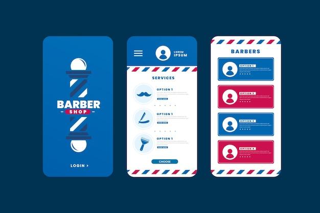 Barber shop boekingsapp Gratis Vector