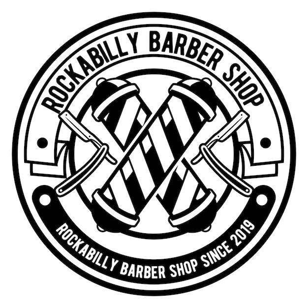 Barber shop-logo Premium Vector