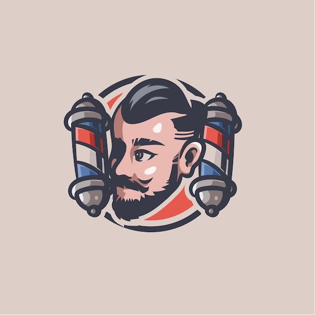 Barbershop clip art afbeelding Premium Vector