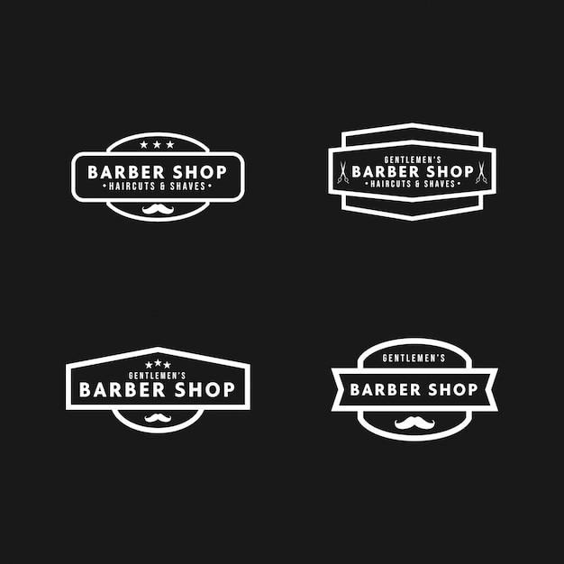 Barbershop logo vintage Premium Vector